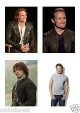4 Sam Heughan  / Outlander 5 x 7 GLOSSY * 4 Photo Picture LOT