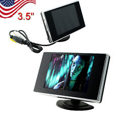 """【US】3.5"""" TFT LCD Color Screen Car Video Rearview Monitor Camera Car Reverse New"""