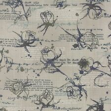 Moda Wordsmith by Janet Clare 1391 12 Quill Rose Outlines on Script COTTON BTY