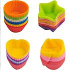 12pcs Round Cups Cake Mold Cake Muffin Jelly Baking Mould Chocolate Silicone