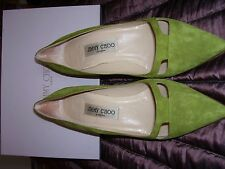 Lime green suede Jimmy Choo courts