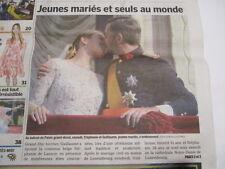 STEPHANIE ET GUILLAUME JEUNES MARIES : MARIAGE AU PALAIS GRAND-DUCAL 22/10/2012