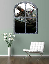 TRANSFORMERS  OPTIMUS PRIME & GRIMLOCK   AGE of EXTINCTION  giant window poster