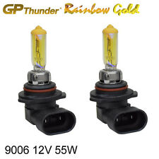 GP Thunder 2500K Rainbow Gold 9006 (HB4) 12V 55W Halogen Xenon Light Bulbs Pair