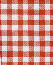 PICNIC CHECK Large Red Gingham Oilcloth Material Fabric Tablecloth BBQ RV Cafe