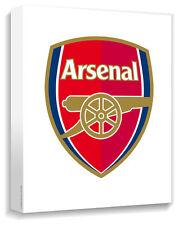 Arsenal Crest Canvas Wrap On White