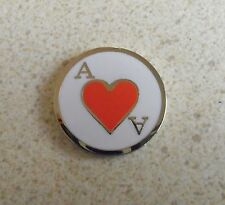 1 only ACE OF HEARTS GOLF BALL MARKER approx 23mm