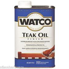 1 Gal Natural Watco VOC Interior/Exterior Wood Furniture Teak Oil Finish 67132