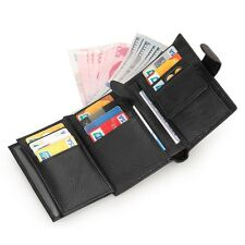 Men's Bifold Genuine Leather ID Credit Card Holder Clutch Billfold Purse Wallet