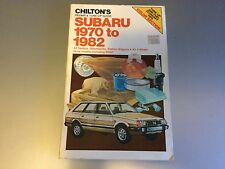 1970-1982  Subaru FF-1 1300, 1400, 1600, 1800 Brat MPV  Chilton's Shop Manual