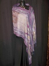 HANDWOVEN PASHMINA SHAWL CASHMERE SILK DOUBLE WRAP SCARF  NEW