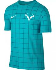 Nike - Tennis - Rafael Nadal - Beta Blue/Ocean Fog - RAFA - T-Shirt - $40 - MED
