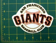 """SAN FRANCISCO GIANTS CREAM """"BASEBALL CLUB"""" OFFCIAL MLB PATCH COMBO -  6 PATCHES"""