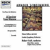 Arnold Schoenberg - London Symphony - Robert Craft - Survivor from Warsaw CD