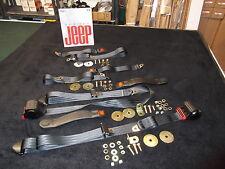 Jeep CJ Laredo, CJ Seat Belts, Wrangler Seat Belts,