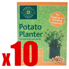 10 x Potato Grow Bag Planter - Grow Your Own POTATOES POTATO Sack Spuds Tub Pati