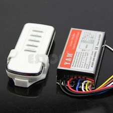 AC 220V Digital Remote Control Switch 4 Ways ON/OFF Controller For Light Lamp