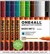 MOLOTOW ONE4ALL 127HS -10 PIECE DRAWING MARKER PEN SET - BASIC SET 2