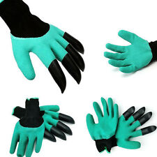 Garden GENIE Gloves For Digging&Planting with4 ABS Plastic Claws GardeningGloves