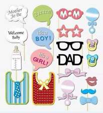 Twins Baby Shower Gender Reveal Party Photo Booth Props, Attached, USA
