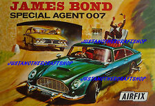 Airfix James Bond 007 Aston Martin DB5 1966 Cartel Anuncio Cartel Folleto A3 Tamaño