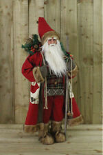 3ft Father Christmas Standing Xmas Santa Claus Ornament Decoration 90cm Red Soft