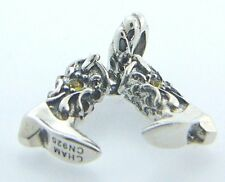 2025-1299  CHAMILIA STERLING SILVER LIL BIT COUNTRY -BOOTS-CHARM NEW IN POUCH