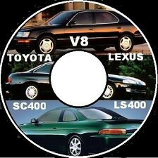 TOYOTA SOARER V8 SC400 LEXUS V8 LS400  1UZ-FE WORKSHOP REPAIR MANUAL CD