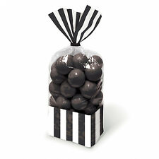 10 x Black Candy Buffet Cellophane Sweet bags Halloween trick or Treat bags