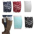 New Women luxury Stretch Lace Boot Leg Cuffs Soft Warmers Laced gift Boot Socks