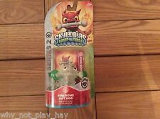 very rare skylanders crystal clear translucent green hot dog fire bone Chase new