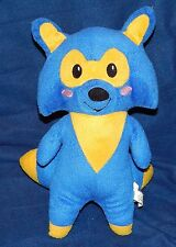 "12"" Namco Bandai Blue & Yellow ROCKET FOX Plush Doll 2013"