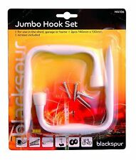 2 Pack Heavy Duty Jumbo Hook Set Bike Ladder Garage Shed Rack Hanger
