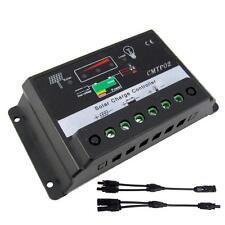 10Amp 12V/24V Solar Panel Charge Controller Battery Regulator + MC4 Connector BA