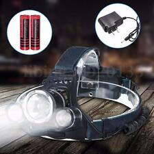 Elfeland 9000LM T6 LED Faro Cabeza Linterna Headlight Headlamp Recargable