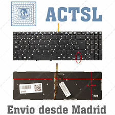 KEYBOARD SPANISH for ACER Aspire V5-552P-7412 Black (For Win8, Backlit)
