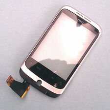 100% Genuine HTC Wildfire G8 front housing+digitizer touch screen Silver bezel