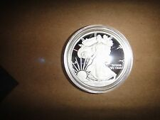 2010 W American Eagle Silver Dollar $1 Proof Coin With Certificate of Authentic