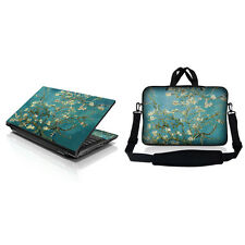 "17.3"" 17 Laptop Sleeve Bag w Shoulder Strap & Matching Skin Almond Trees 17-ZD51"