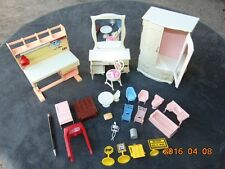 LARGE Lot Doll House Furniture chairs some Vintage MIX Plastic Various Scales