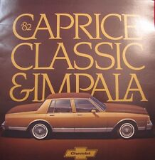 Automobile/Car Original Sales Brochure Chevrolet Caprice Classic and Impala