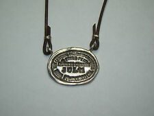 Sterling/Leather Pikes Peak Express Company Pendant Necklace, 12.05 Grams, #K530