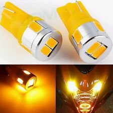 JDM ASTAR T10 Wedge 12V Super Bright 5730 SMD 194 168 2825 Amber LED Light Bulbs