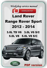 Land Rover Range Rover Sport 2012 2013 2014 Factory service repair manual