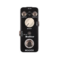 Mooer Micro Buffer Guitar or Bass Buffer / Booster Effect Pedal - Brand New!