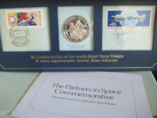 Sterling Silver Proof Coin Stamps Apollo Soyuz Mission - 1975 Partners in Space