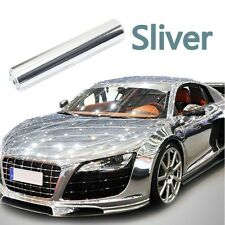 New ! Silver Chrome Smooth Mirror Vinyl Wrap Film Auto Car Sticker Decal Bubble