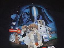 LEGO STAR WARS DARTH VADER Luke Skywalker  leigh stormtrooper T-Shirt Medium