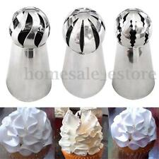3Pcs Sphere Russian Icing Piping Nozzles Tips Cake Decorating Sugarcraft Tools