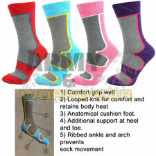 6 PAIRS LADIES WOMENS SOCKS WALKING HIKING BOOT WORK COTTON SOFT TOPS SIZE 4-7